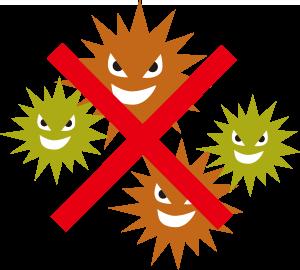 有害物質を発生しない